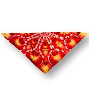 Hand tie dye kaleidoscope triangle half bandana